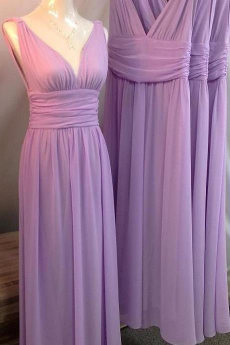 long Bridemaids Dresses Spaghetti Purple lavender Plus Size wedding party dress Sexy Evening