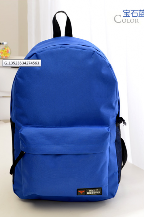 Fashion navy blue Canvas Backpack Bags, SImple Large Capacity Leisure Canvas Backpack