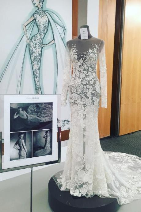 Sexy Wedding Dress, Wedding Dress,Wedding Dress,Wedding Gown,Bridal Gown,Bride Dresses, See Through Wedding Dress,Long Sleeves Wedding Gown,Mermaid Wedding Dress,Embroidery Wedding Gown,Floral Bridal Dress,Beach Wedding Dress