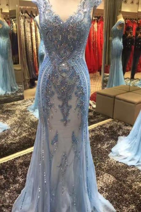 Prom Dress,Prom Dresses,Long Evening Dresses,Prom Dresses,blue Evening Dress