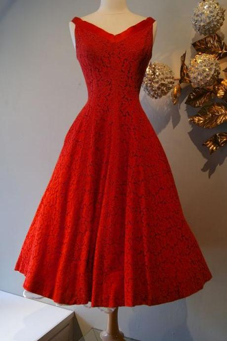 Red Prom Dress,Lace Prom Dress,A Line Prom Dress,Fashion Prom Dress,Sexy Party Dress, New Style Evening Dress