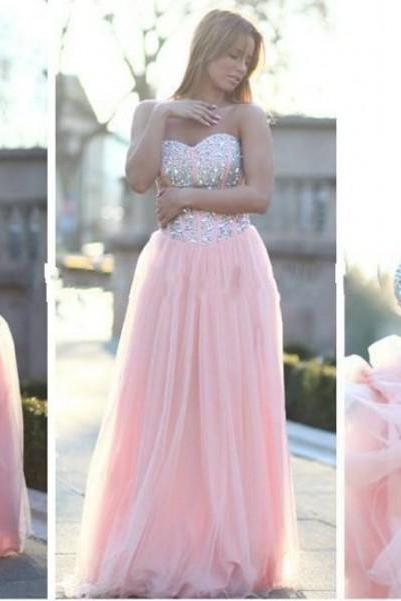 Pink Formal Dresses, Prom Dresses , Prom Dresses Under 200, Dresses For Prom, Discount Prom Dresses, Sexy Prom Dresses , A LINE Prom,Tulle Prom