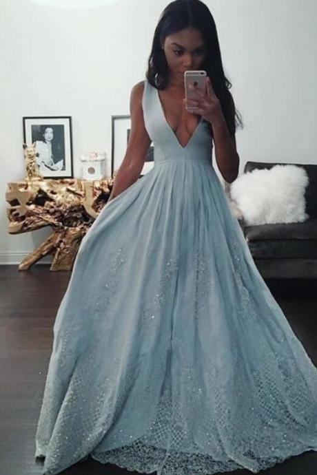 Custom Halter Neck Prom Dress, See-Through Lace Evening Dress, Splicing Prom Dress,Sexy Backless Evening dress