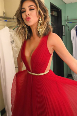 Cheap Sleeveless Red Prom Dress,Evening Dresses, Long A-line Prom Dresses,Princess Pleated Criss-Cross Dresses