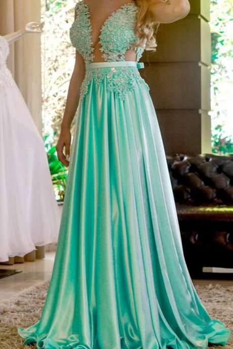 Illusion Bodice Prom Dress,Evening Dresses, Prom Dresses,Party Dresses