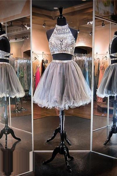 Homecoming Dress,Luxury beads Silver Prom Dress,Short Homecoming Dresses,Junior Homecoming Dresses,Cheap PartyDress,2 Piece Prom Dress,Cheap Homecoming Dress, 8th Grade Prom Dress,Holiday Dress,Silver Evening Dress, Short Evening Dress,Formal Dress, 2 Piece Homecoming Dresses, Graduation Dress, Cocktail Dress, Party Dress, Formal Dress, Sexy Gril Dress,Party Dress, Prom Dress, Custom Dress