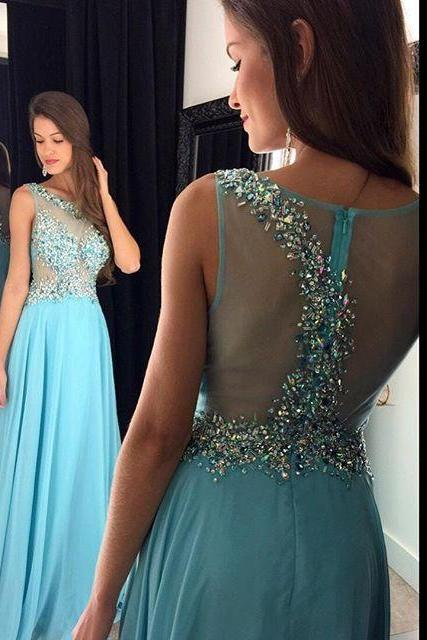 Prom Dress, A-line Prom Dresses, Sleeveless Prom Dress, Crystal Prom Dress, Long Prom Dresses, Illusion Back Prom Dress,Fashion Prom dress,Long Prom dress,Fashion Prom dress, Fashion Prom dress,Simple Prom Dress, vintage prom dress, long party dress ,Beaded evening dresses, Formal Dress, Sexy Gril Dress, Floor-Length Prom Dresses, Evening Dress, Custom Dress