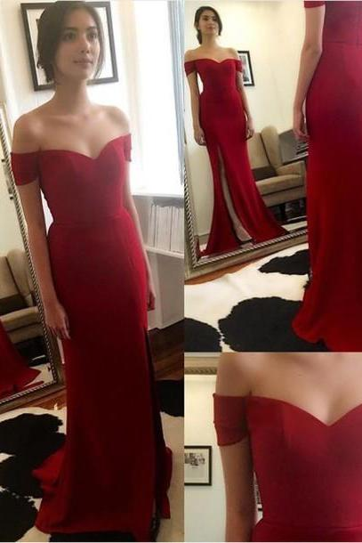 Prom Dress, Slit Prom Dress,Dark Red Prom Dress,Mermaid Prom Dress,Long Prom Dresses,Off-shoulder Prom Dress,Chiffon Prom Dress,Chiffon Prom Dress,Sexy Prom Dress,Long Chifffon Evening Dresses, Formal Dress, Sexy Gril Dress, Floor-Length Prom Dresses, Evening Dresses, Custom Dress