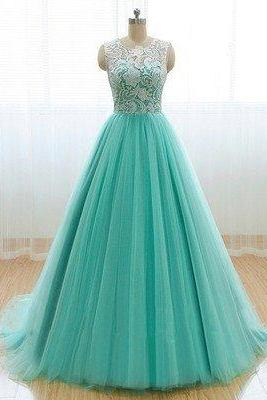 Mint Prom Dress,A-line Prom Dress,Tulle Prom Dress,A-line prom dress,Prom Dress,Party dress gown,Cheap Prom Dress,Formal Dress, Sexy Gril Dress, Floor-Length Prom Dresses, Evening Dresses, Custom Dress
