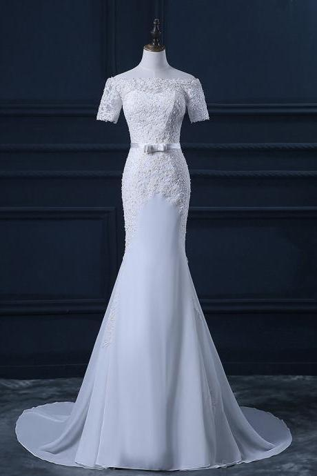 Wedding Dress,Sexy Elegant Charming Wedding Dress,Mermaid lace Prom Dress,Elegant Wedding Dress,Wedding Dresses,Cheap Wedding Dress,Formal Dress, Sexy Gril Dress, Floor-Length Bridal Dresses, Evening Dresses, Custom Dress