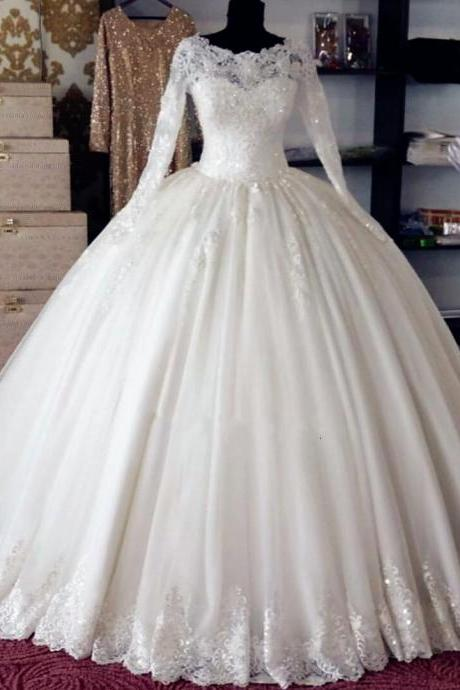 Wedding Dress, Wedding Gown,Princess Wedding Dresses,Lace Bridal Dresses