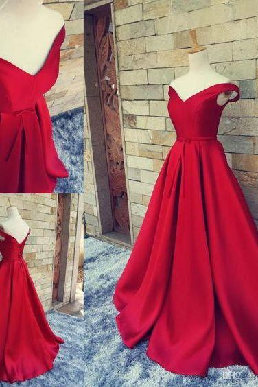 Red Prom Dress,Prom Dress,Off The Shoulder Prom Dresses,Formal Gown,Sexy Evening Gowns,Red Party Dress,Mermaid Prom Gown For Teens