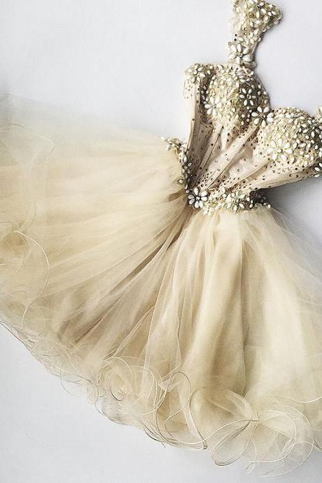 Homecoming Dress,Homecoming Dresses,Short Prom Gown,Champagne Homecoming Gowns,Homecoming Dress,Ball Gown Homecoming Dresses,Sweet 16 Dress For Teens