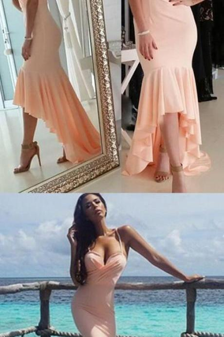Spaghetti Straps Prom Dress,Mermaid Prom Dress,Sexy Prom Dress,Evening Dress