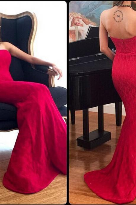 Sexy Evening Dress,Backless Mermaid Evening Gowns,Long Prom Dresses,Formal Gown