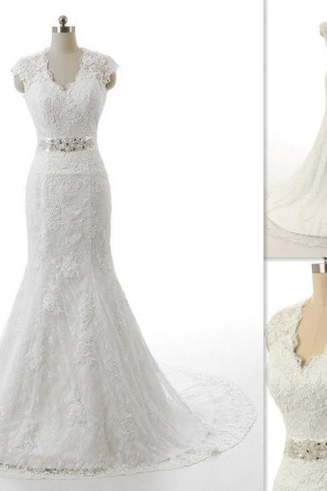 New Arrival Wedding Dress,White Long A Line Wedding Gown Bridal Dresses