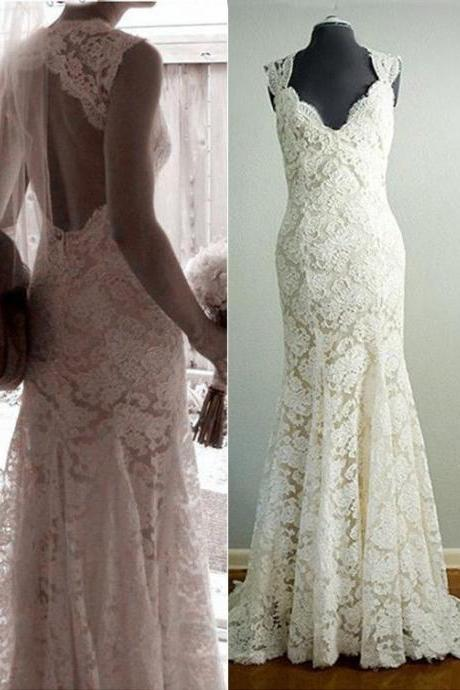 Mermaid Wedding Dress,Lace Wedding Dresses,Long Wedding Dresses,Wedding Dresses,Bridal Dresses