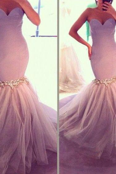 Mermaid Prom Dress, Tulle Prom Dresses, Formal Dresses