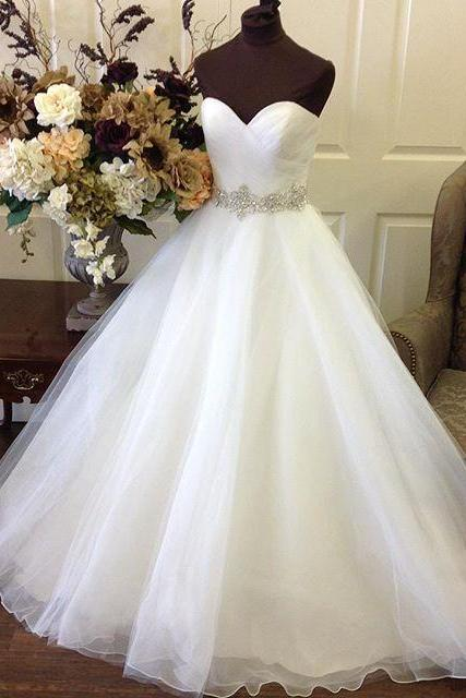Sweetheart Wedding Dress,Organza Princess Wedding Dresses,Bridal Wedding Dresses, Ball Gowns Bridal Dress