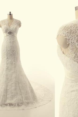 Wedding Dress High QulitWedding Dress, Lace Wedding Dresses, Sweep Train Wedding Dress Open Back Wedding Dress Sleeveless Wedding Dress Luxury Wedding Dress Bridal Dress For Bride