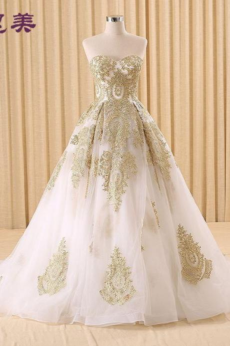 Custom Made Long Ball Gown Lace Wedding Dresses Wedding Gowns Formal Dresses bride wedding dress Lace Wedding Dresses Bridal Gowns