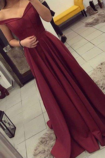 Off Shoulder Red Mermaid Prom Dresses,Sexy Prom Dress,Long Evening Dress,Formal Party Dress, Woman Prom Dress