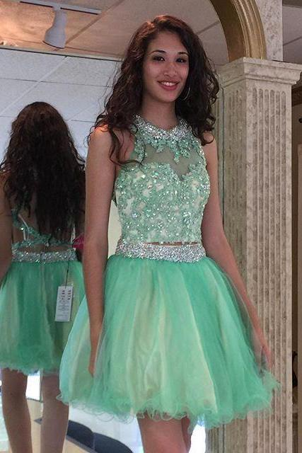 Charming Homecoming Dress,Homecoming Dresses,Tulle Graduation Dress,Short Prom Dress