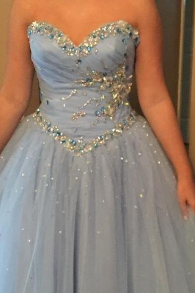 Graduation Dress, New Cheap Ball Gown Tulle Prom Dresses Beading Crystals Evening Dress Party Formal Dress Gowns Vestidos,Graduation Dresses,Wedding Guest Prom Gowns, Formal Occasion Dresses,Formal Dress