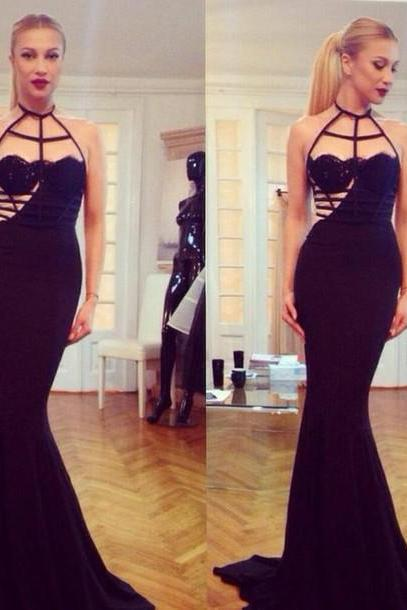 Long Prom Dress, Occasion Dress, Black Prom Dress, Unique Prom Dress, Evening Dress, Mermaid Prom Dress, Sexy Prom Dress