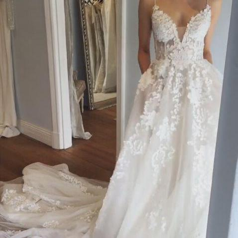 Charming Wedding Dress,Long Bridal Dresses,Formal Evening Dress,Women Dress