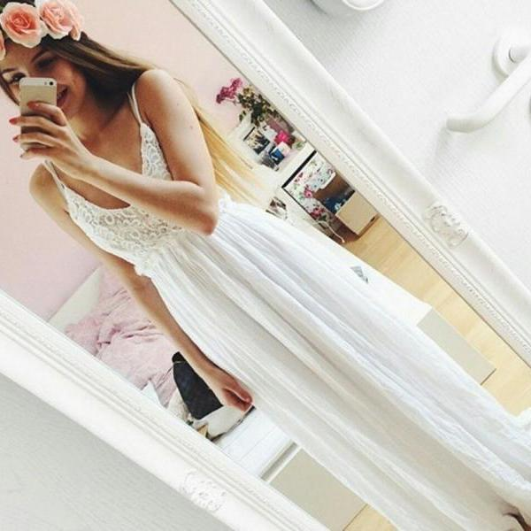 Long Prom Dress,Appliques Prom Dress,Chiffon Evening Dress,Formal Dress